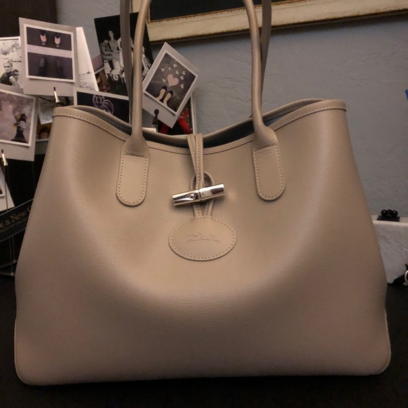 "Longchamp Roseau Tote - beige (""clay"")"